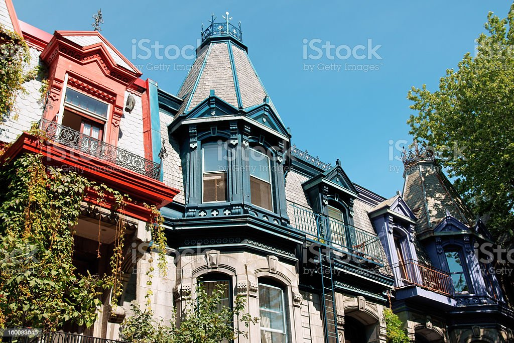 Victorian houses stock photo