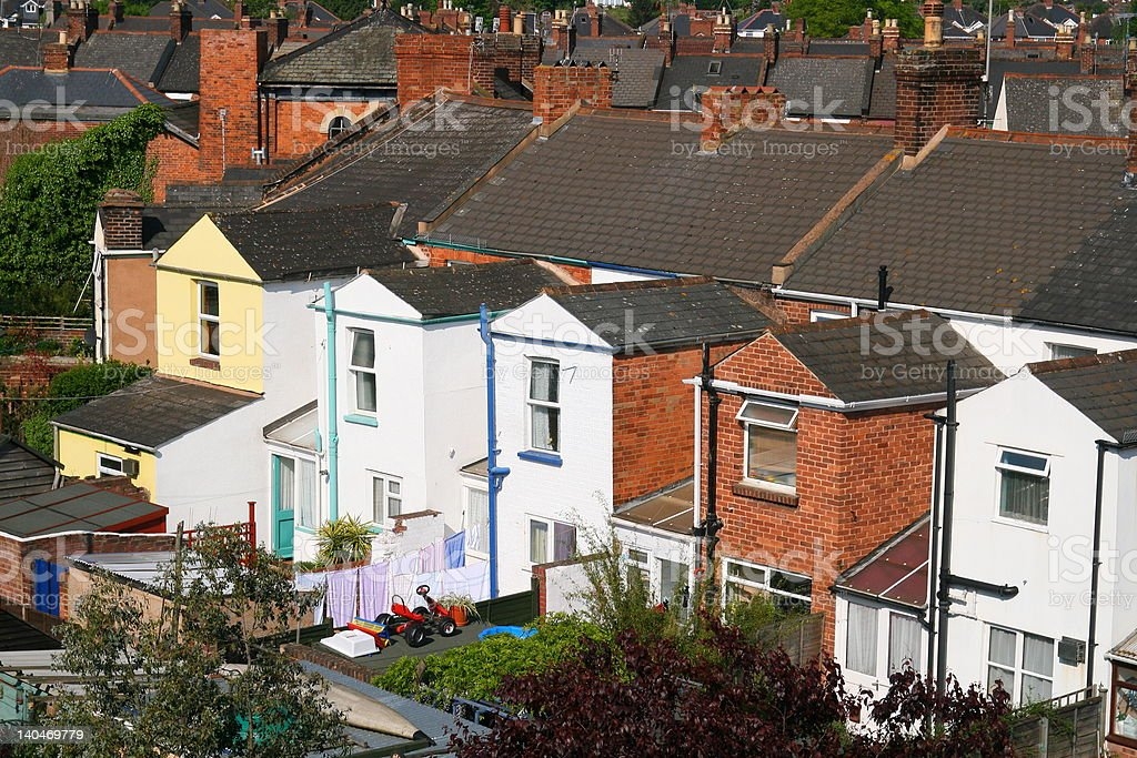 Victorian Housing Cityscape royalty-free stock photo