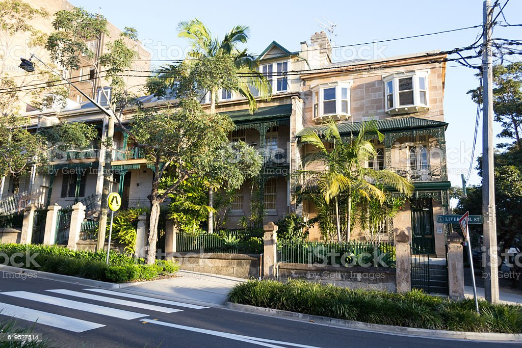 Victorian huse in Sydney stock photo