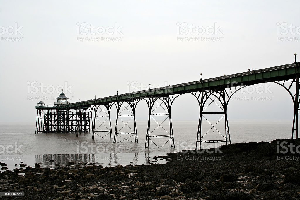 Victorian Iron Pier - Clevedon royalty-free stock photo