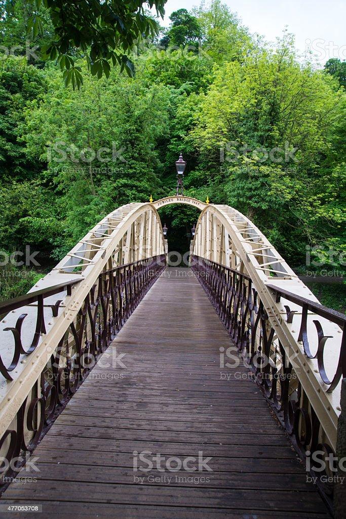 Victorian jubilee bridge, Matlcok. stock photo
