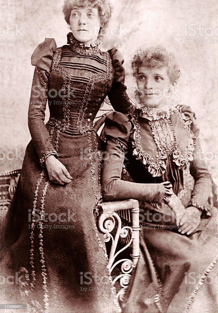 Victorian Ladies stock photo