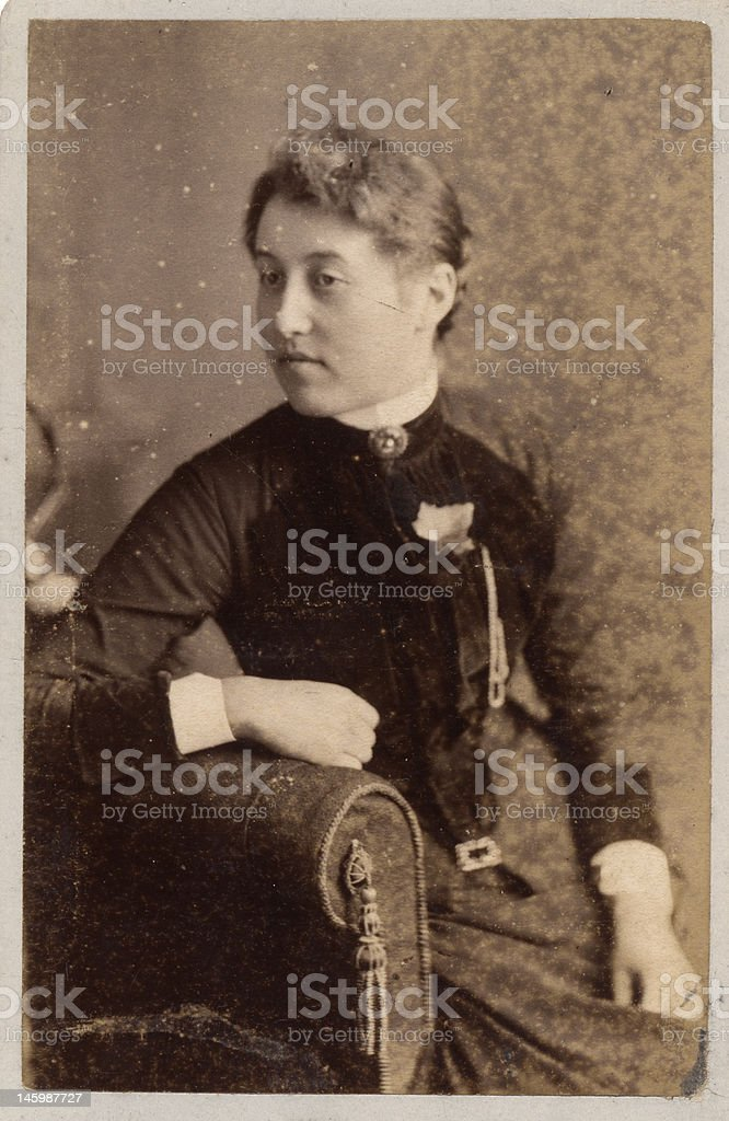 Victorian Lady 07 Portrait stock photo