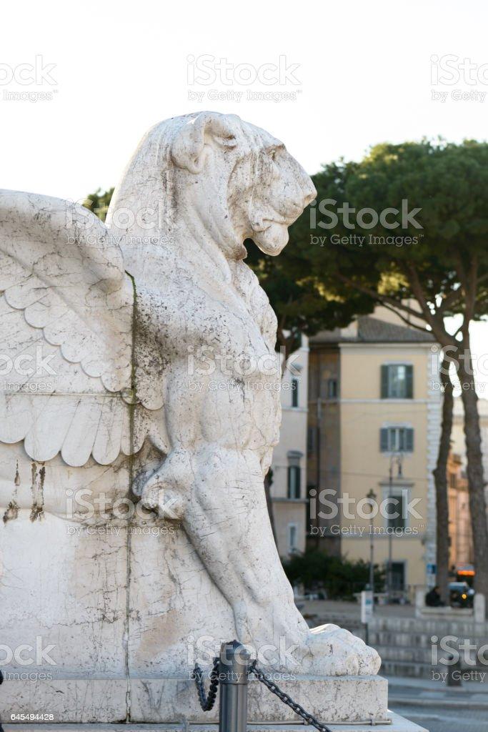 Victorian Lion in Venezia square stock photo