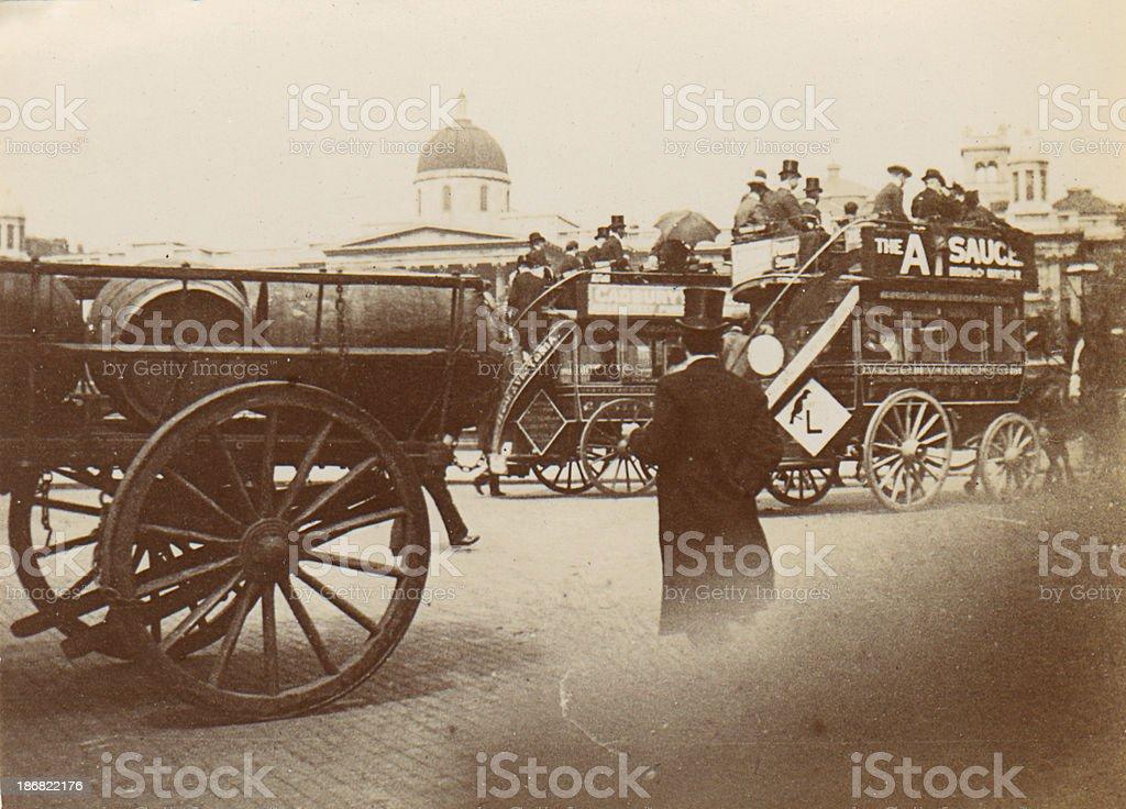 Victorian London Street Scene royalty-free stock photo