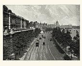 Victorian London, Victoria Embankment, from Waterloo Bridge, 189