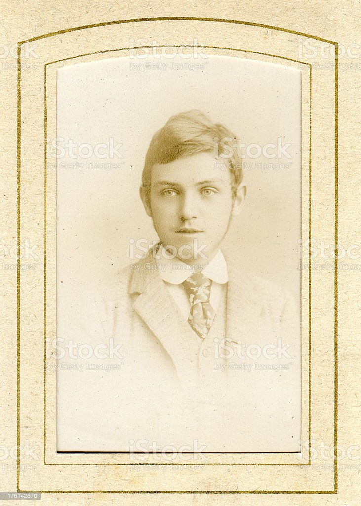 Victorian Man Faded Old Photograph royalty-free stock photo