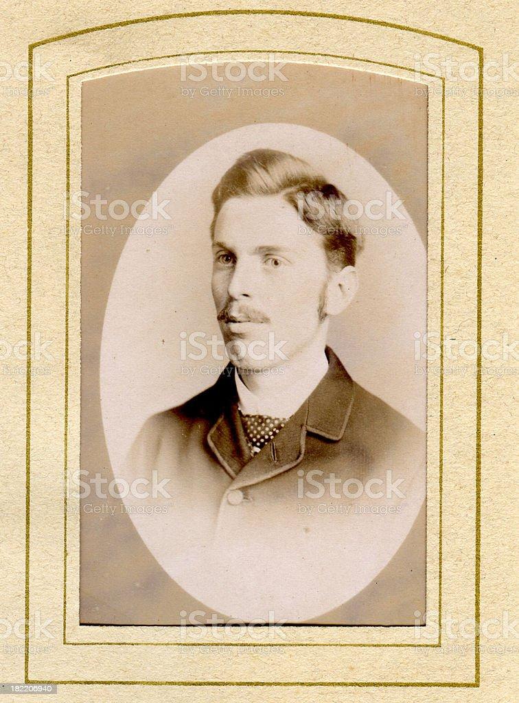 Victorian Man Old Photograph stock photo