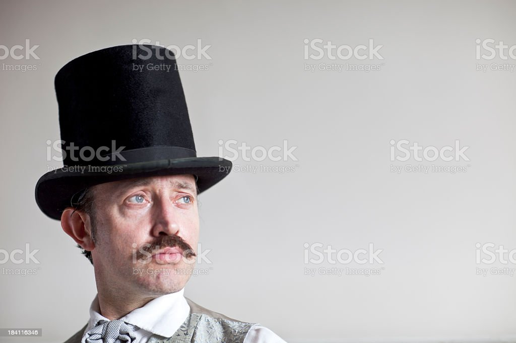 Victorian man with a top hat stock photo