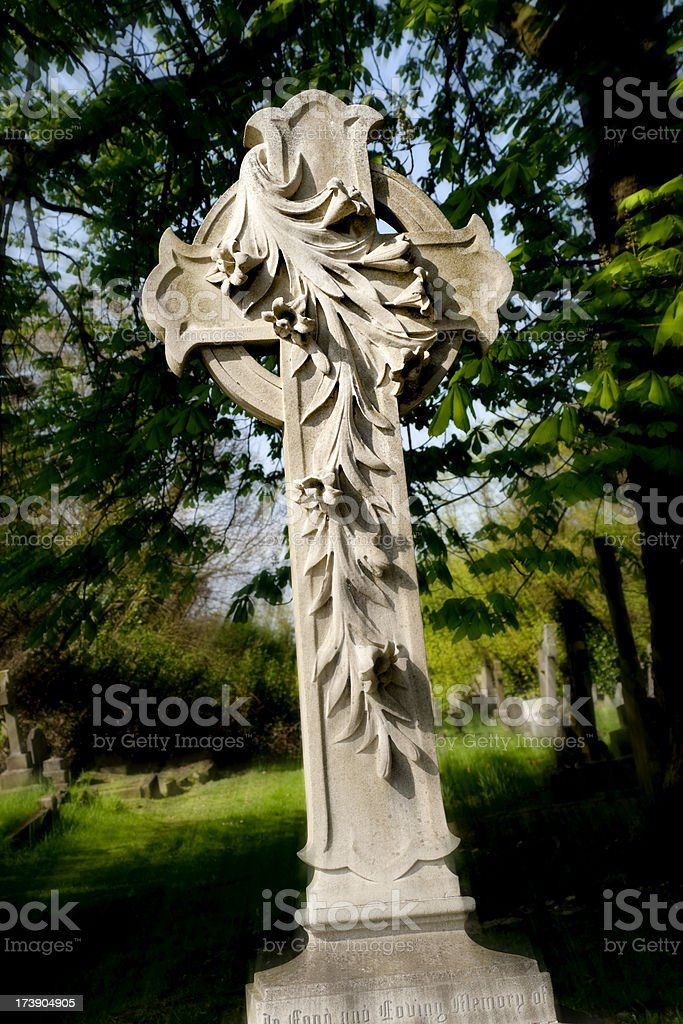 Victorian memorial cross royalty-free stock photo