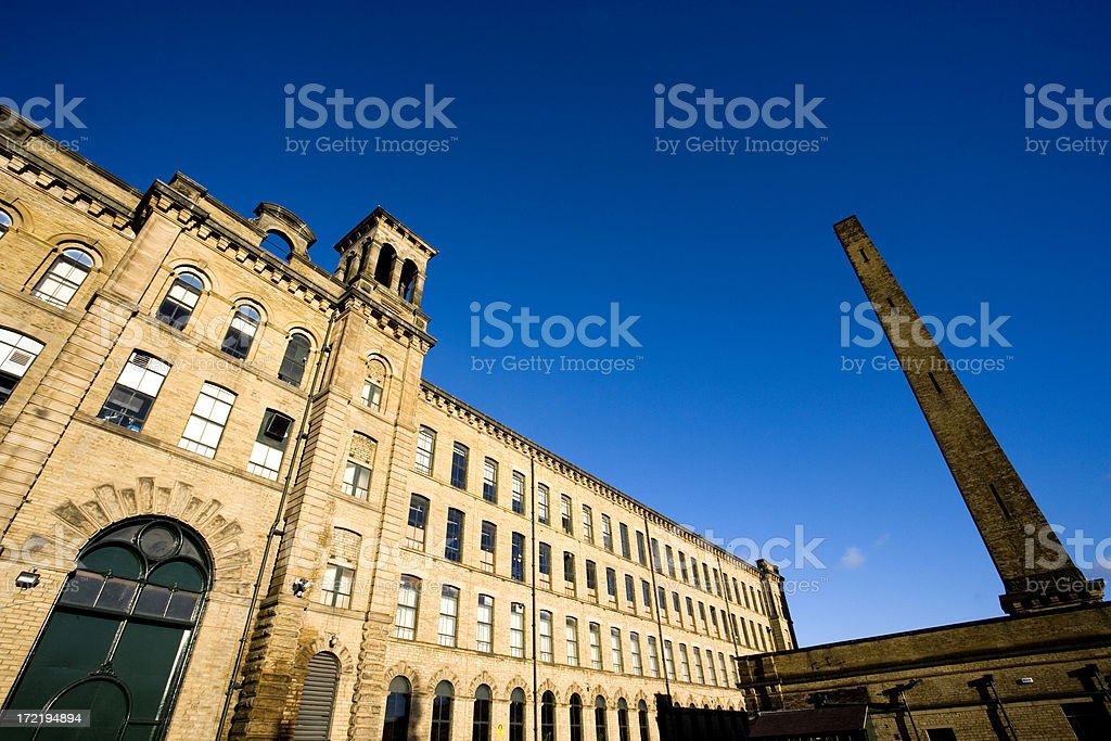Victorian mill stock photo