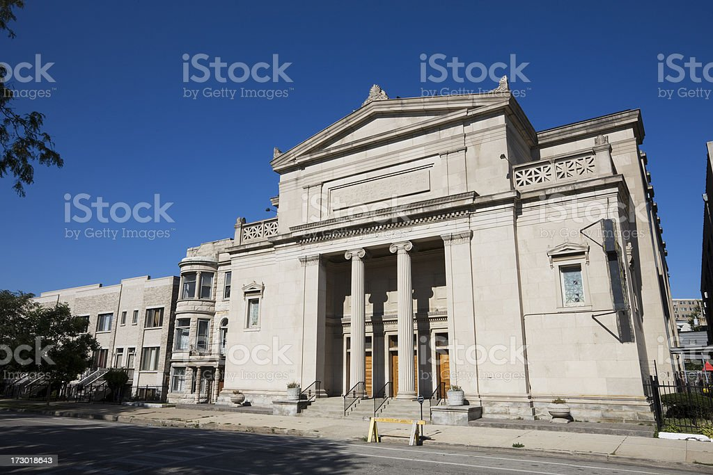 Victorian Neoclassical Church in Chicago royalty-free stock photo