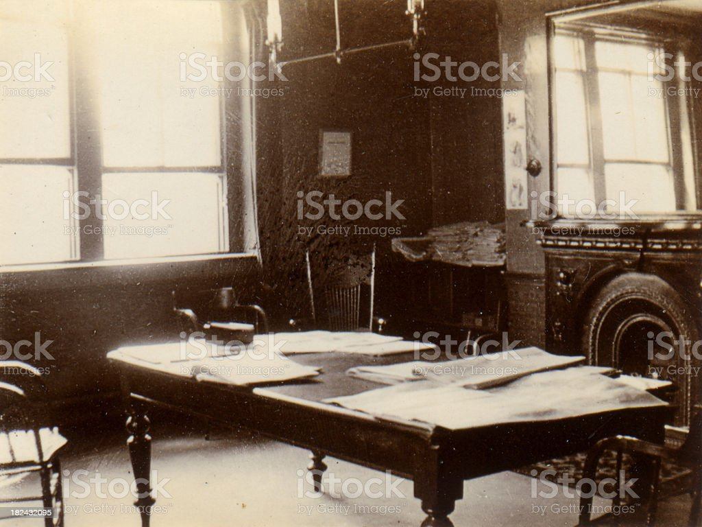 Victorian Office royalty-free stock photo