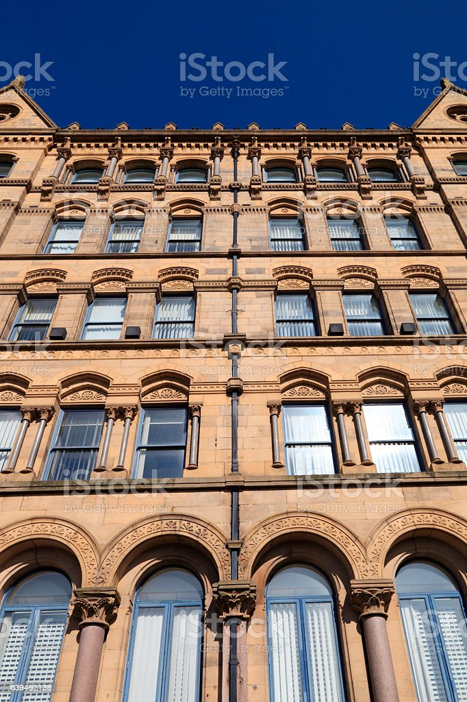 Victorian offices in Little Germany, Bradford stock photo