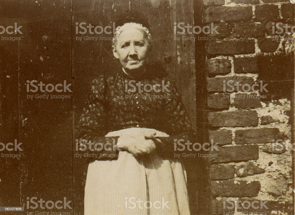 Victorian old woman royalty-free stock photo