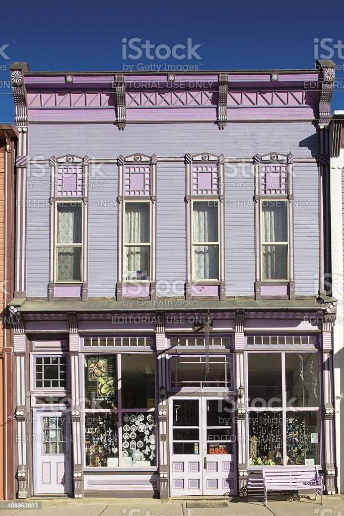 Victorian Painted Lady Architecture - Silverton, Colorado royalty-free stock photo