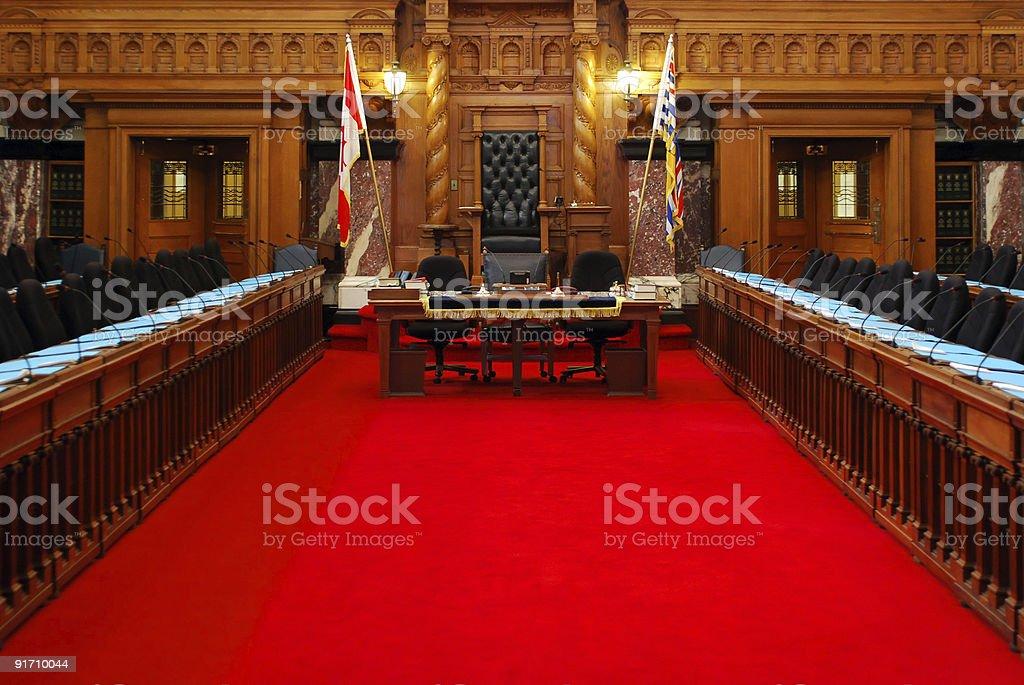 Victorian Parliament stock photo