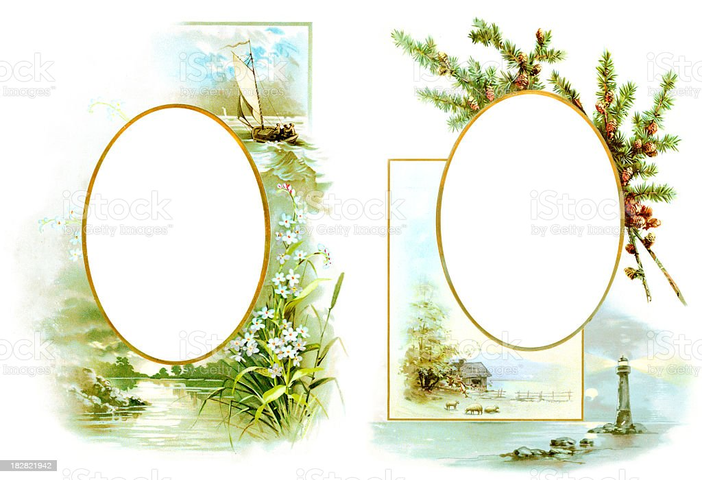 Victorian Picture Frames royalty-free stock photo