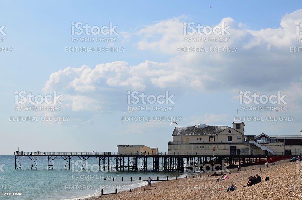 Victorian pier. stock photo