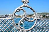 Victorian pier railings detail, Swanage.