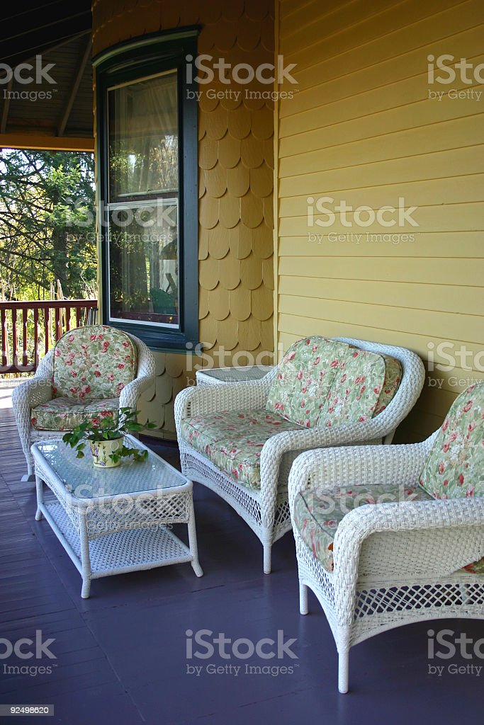 Victorian Porch stock photo
