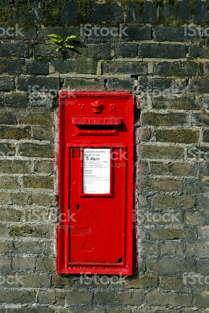 Victorian Post Box 2 royalty-free stock photo