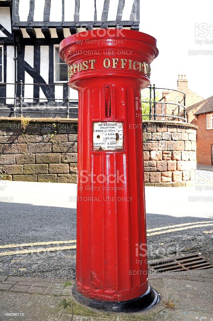 Victorian postbox, Warwick. royalty-free stock photo