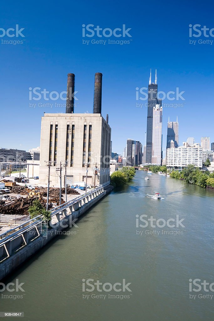Victorian Power Station, Chicago stock photo