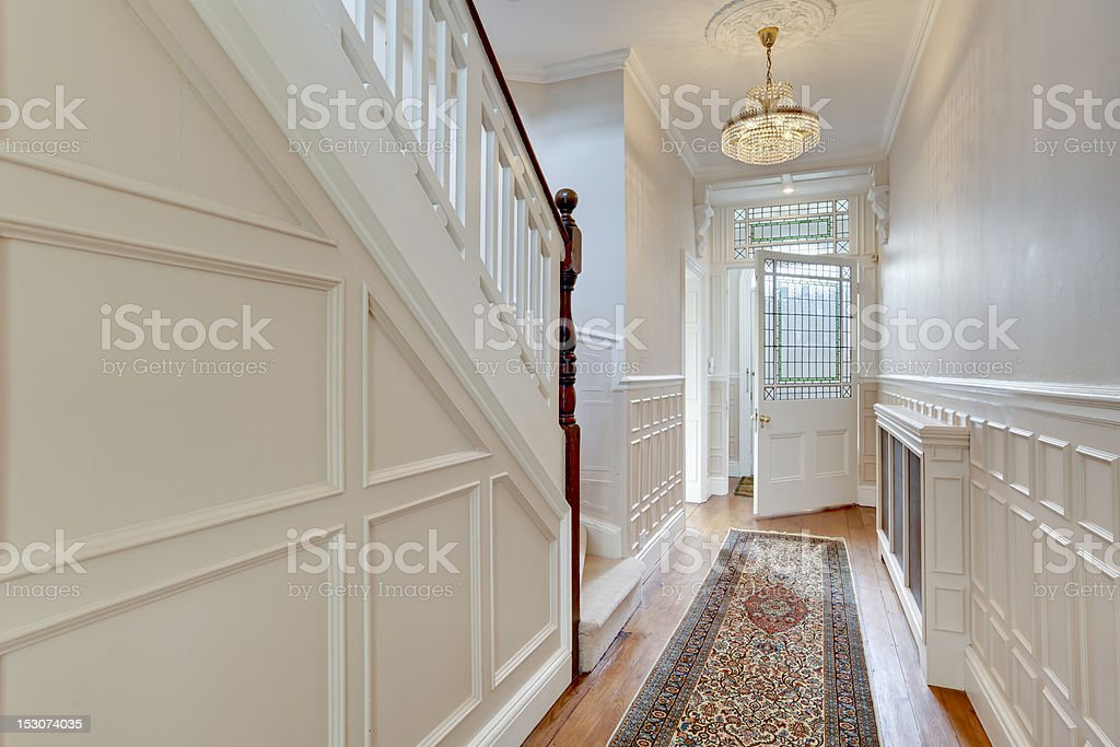 Victorian reception hall stock photo