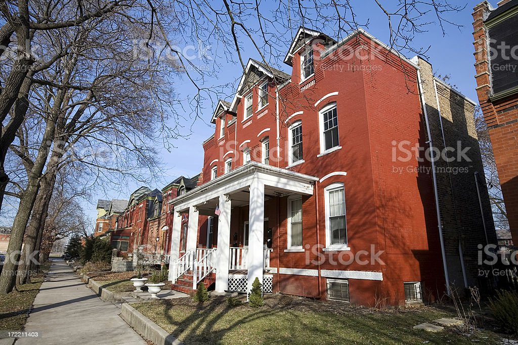 Victorian Residence in Pullman, Chicago stock photo