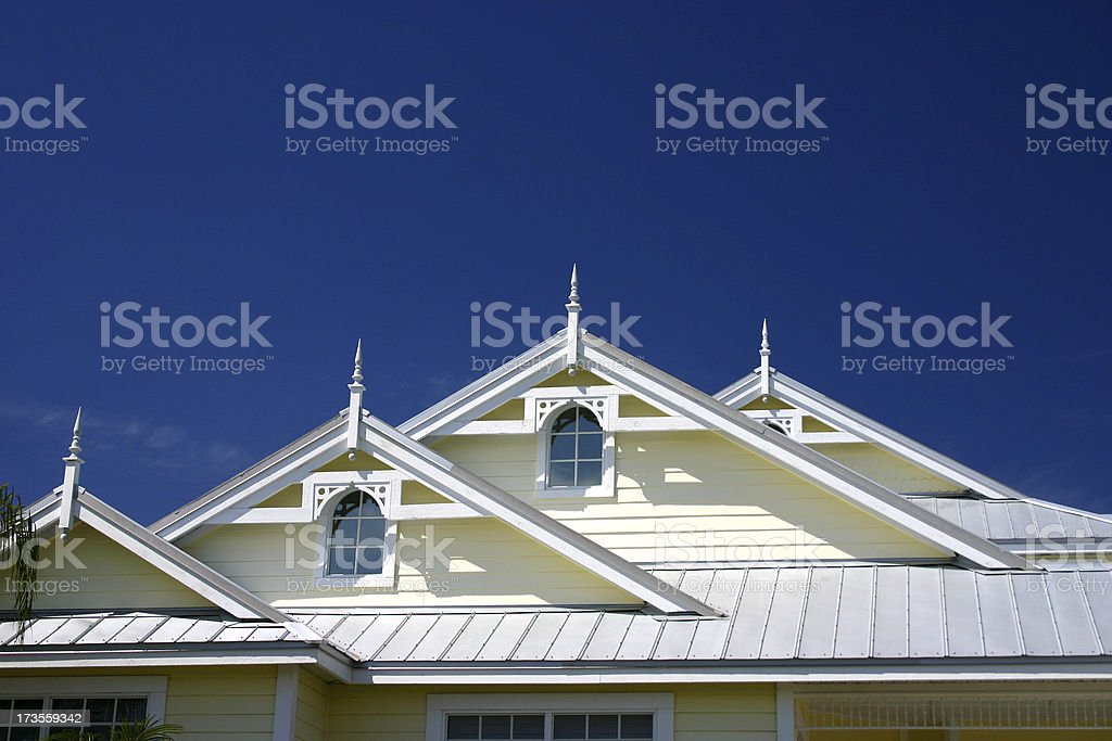 Victorian Rooftops royalty-free stock photo