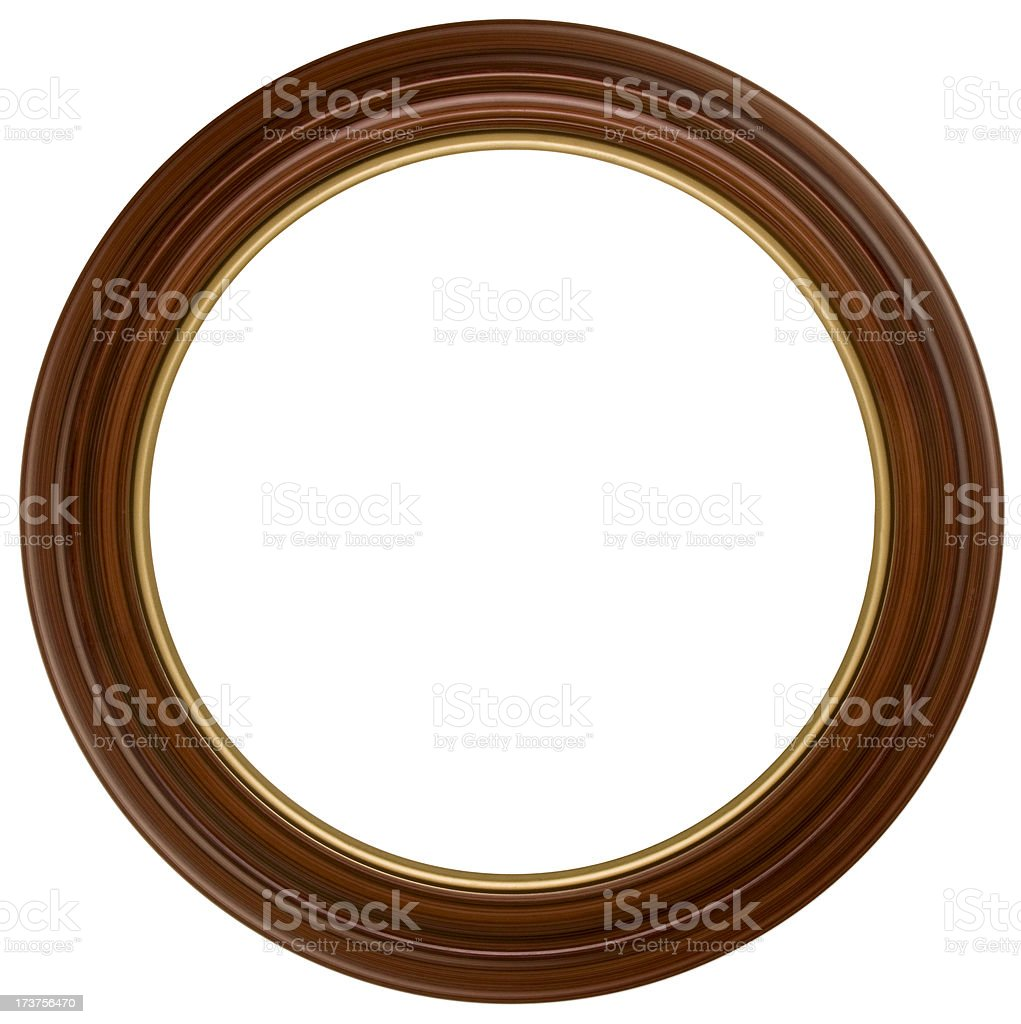 Victorian Round Picture Frame.  Isolated on White with Clipping Path stock photo