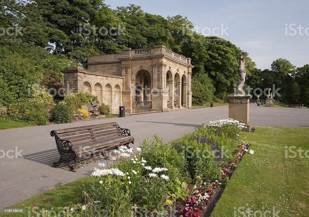 victorian sandstone pavilion stock photo