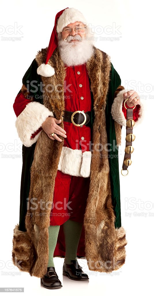 Victorian Santa Claus isolated on White. XL royalty-free stock photo