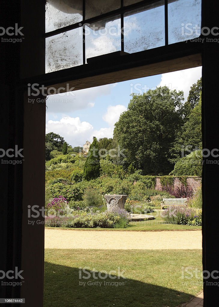Victorian Scotney Castle and its Magnificent Gardens, Kent England stock photo