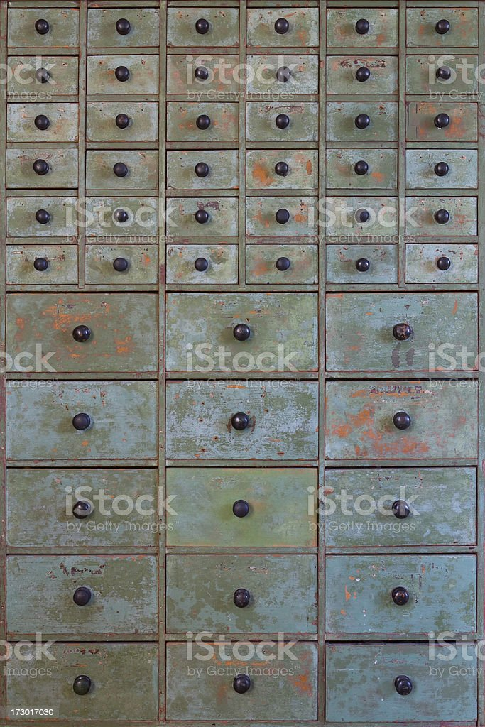 Victorian Seed Drawers royalty-free stock photo
