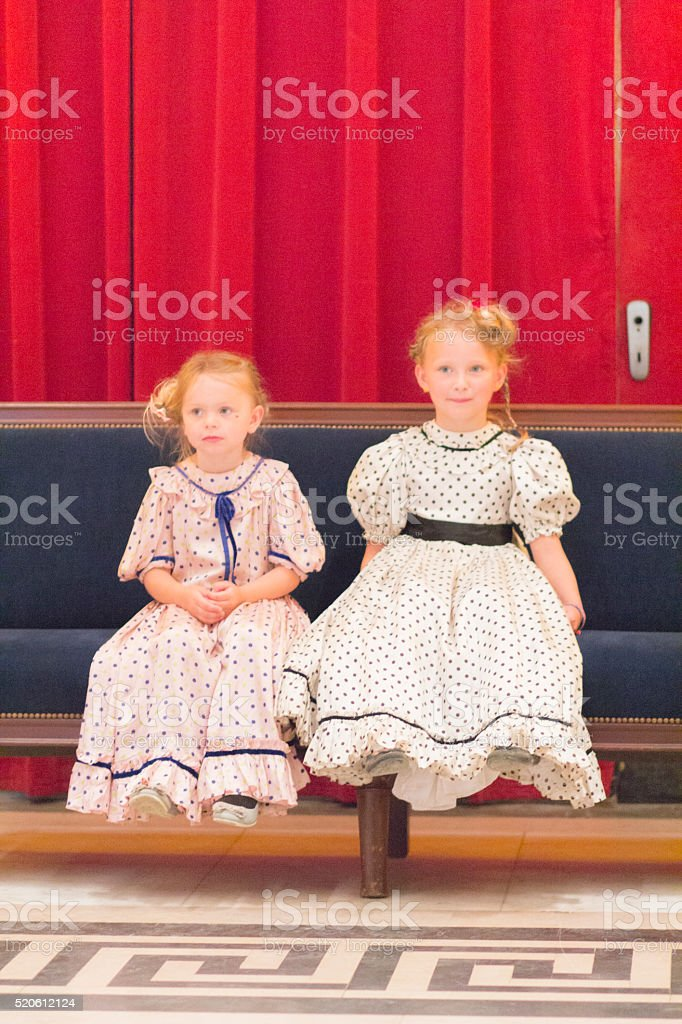 victorian sisters stock photo