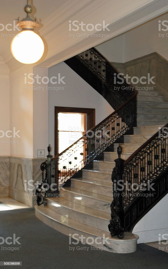 Victorian Staircase stock photo