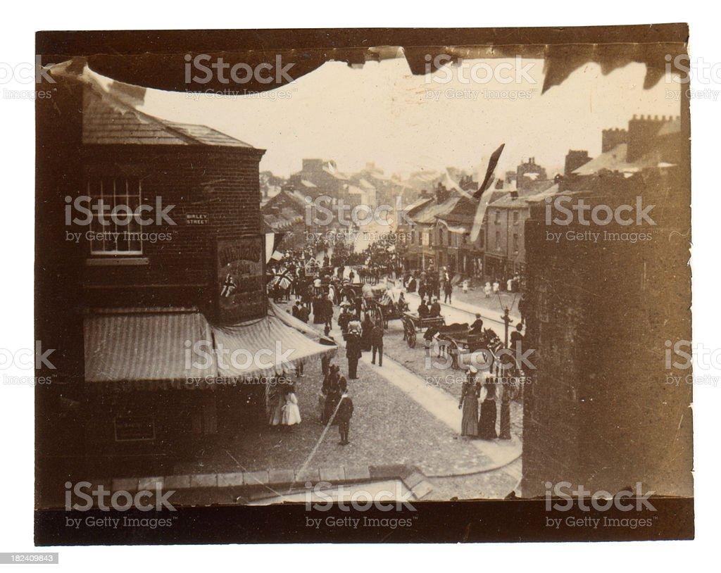 Victorian Street Scene London royalty-free stock photo
