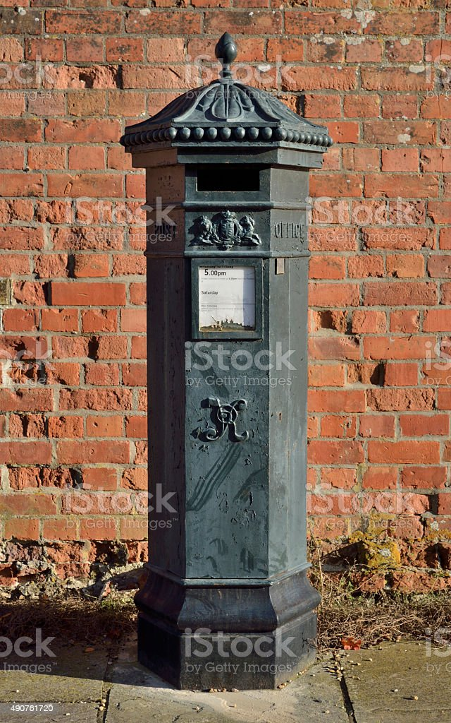 Victorian Style Black Letterbox royalty-free stock photo