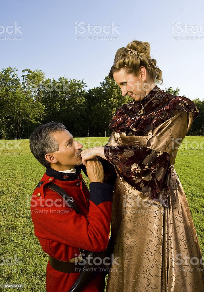 Victorian Style Couple royalty-free stock photo