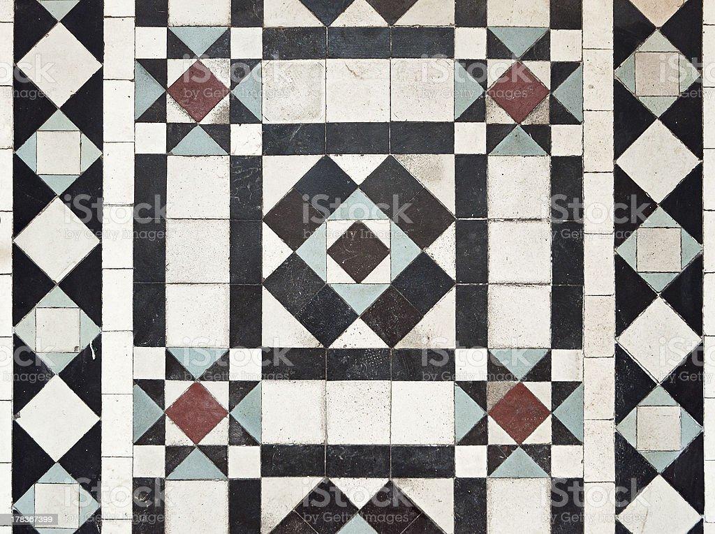 victorian style floor tile pattern royalty-free stock photo