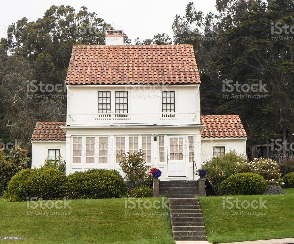 Victorian style house on San francisco city royalty-free stock photo