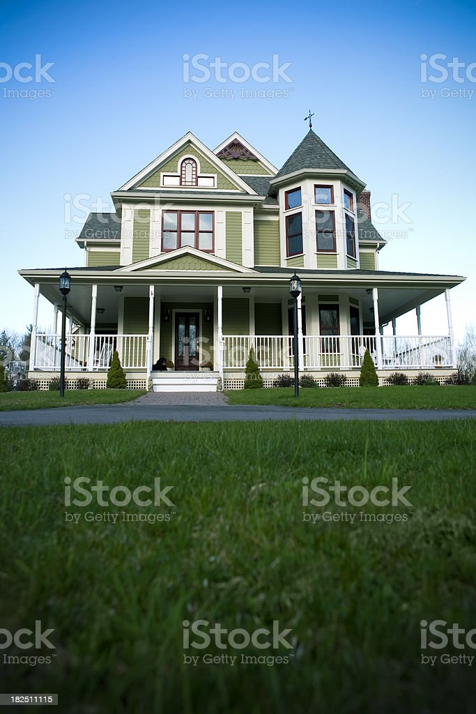 Victorian style house stock photo