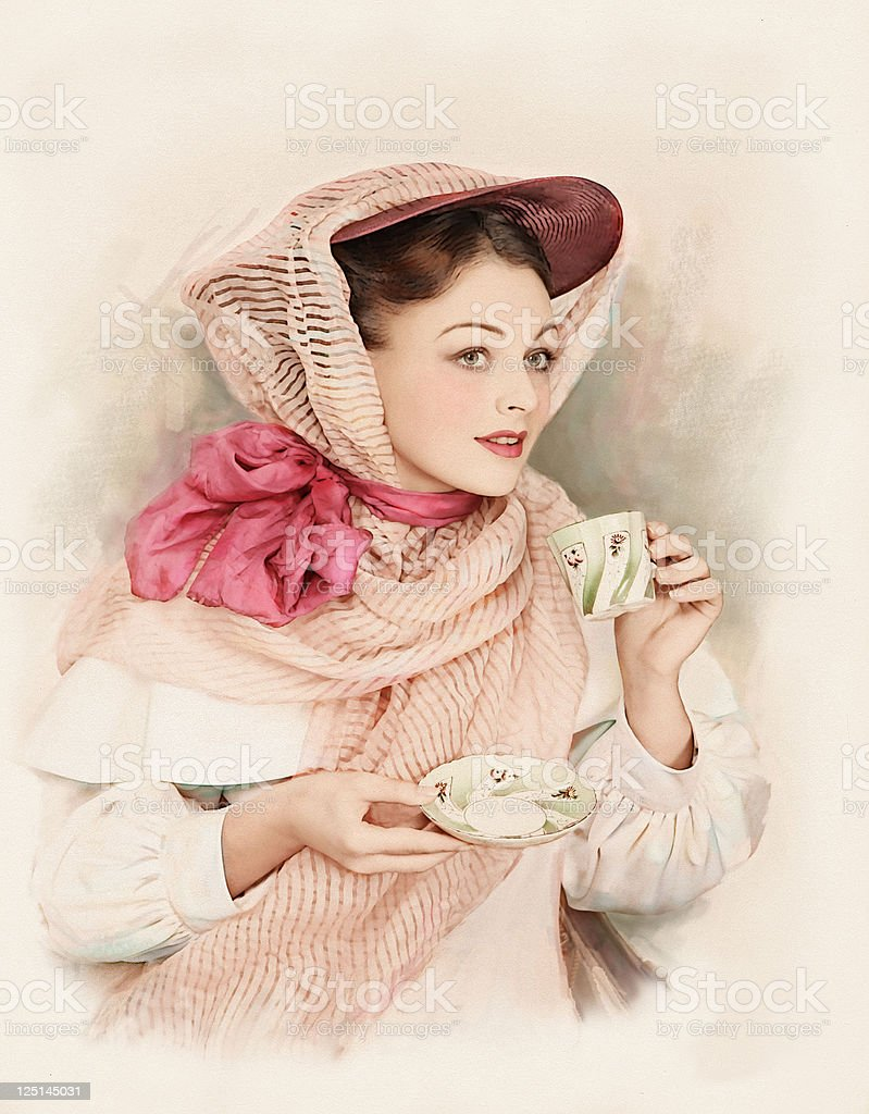 Victorian Style. Tea-Time. royalty-free stock photo