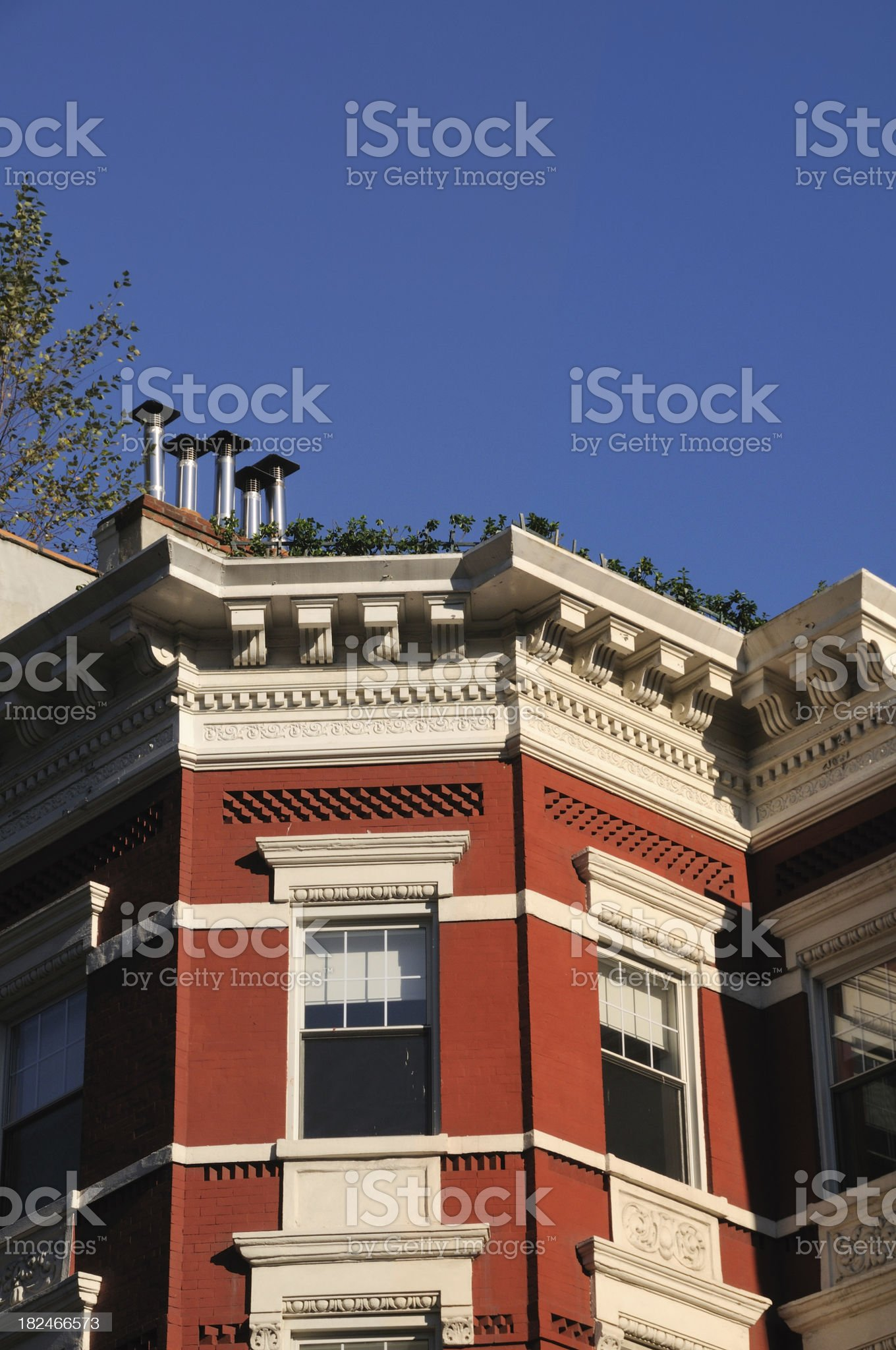 Victorian style tenement facade royalty-free stock photo