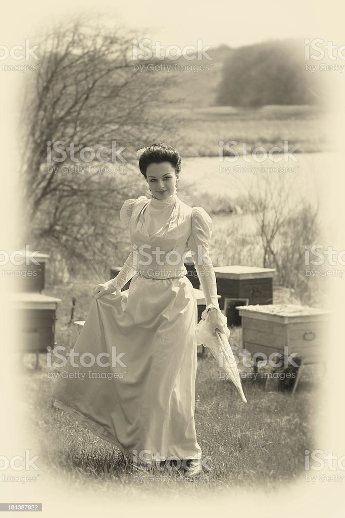 Victorian Style. Walk. royalty-free stock photo