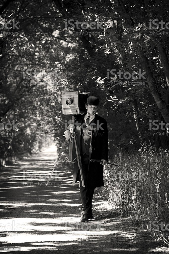 Victorian Style.Photographer on the road royalty-free stock photo