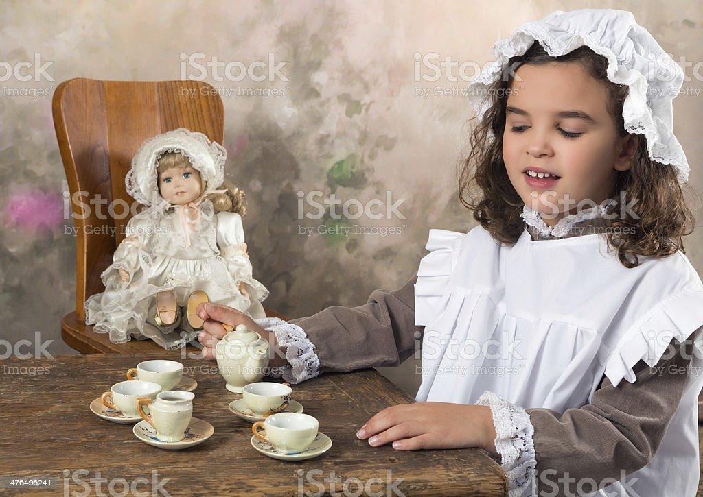 Victorian tea party stock photo