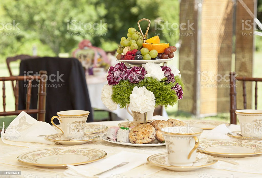 Victorian Tea Setting royalty-free stock photo